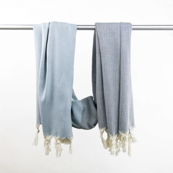 Hammam Towel Manolya dark blue-grey blue