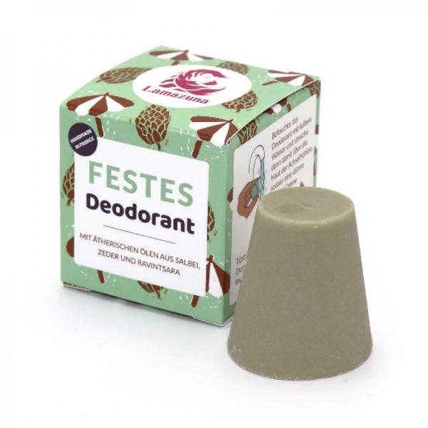 Festes Deodorant mit Salbei, Zeder und Ravintsara
