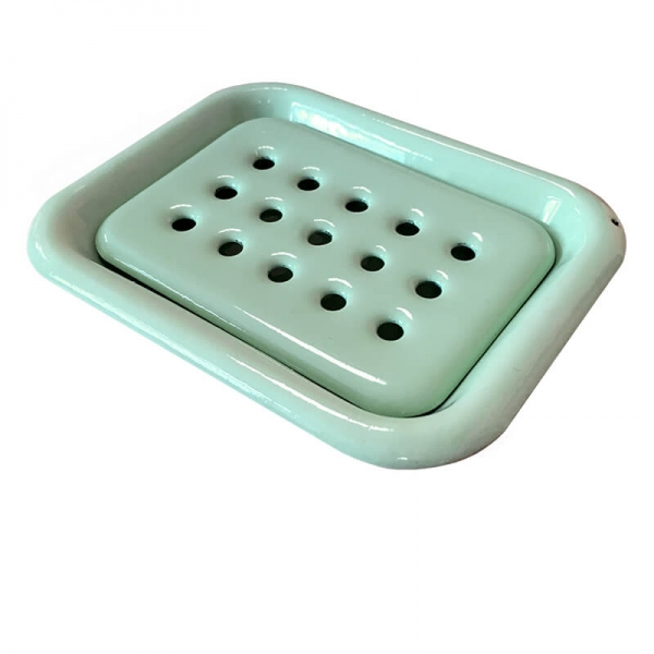 Enamel Soap Dish Mint
