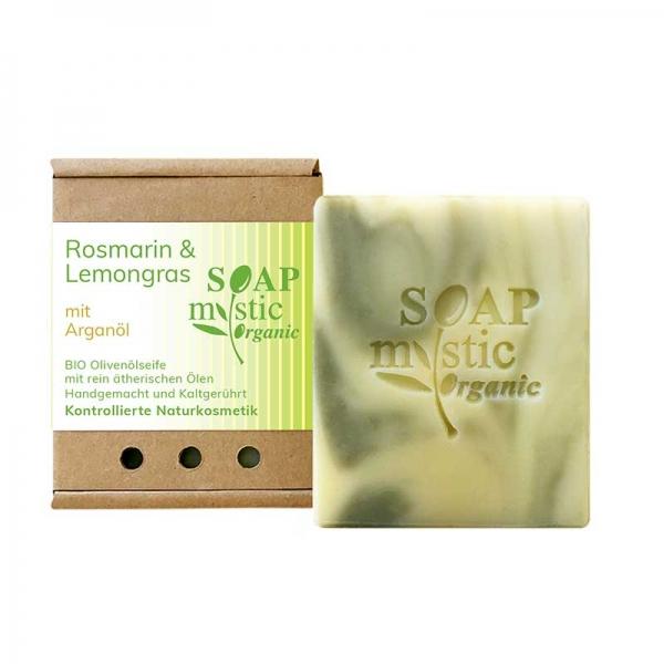 Bio-Olivenölseife Rosmarin & Lemongras mit Arganöl
