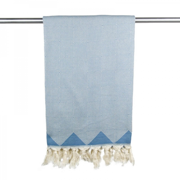 Hammam Towel Kestane grey blue