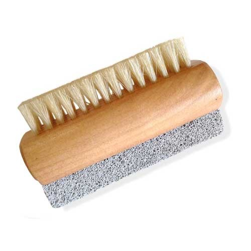 Wooden Nail Brush with pumice stone
