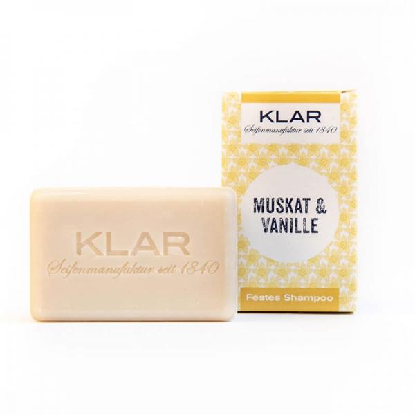 Klar's Festes Shampoo Muskat & Vanille