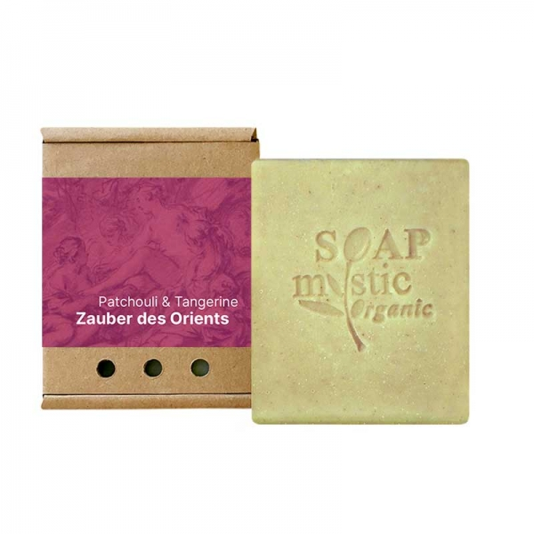 Organic Soap Patchouli & Tangerine with Maroccan Lava Clay