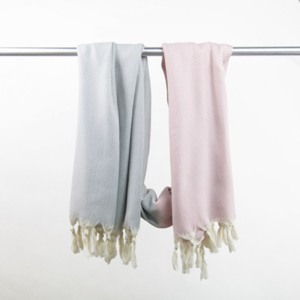 Hammam Towel Manolya rose-ligt grey