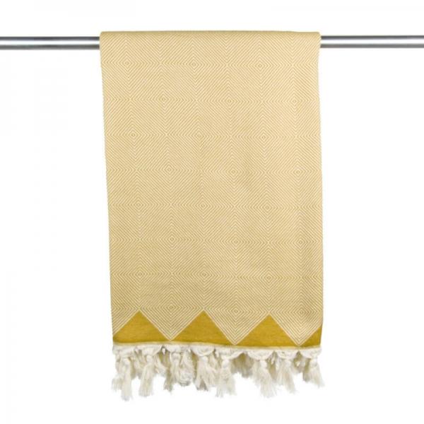 Hammam Towel Kestane mustard yellow
