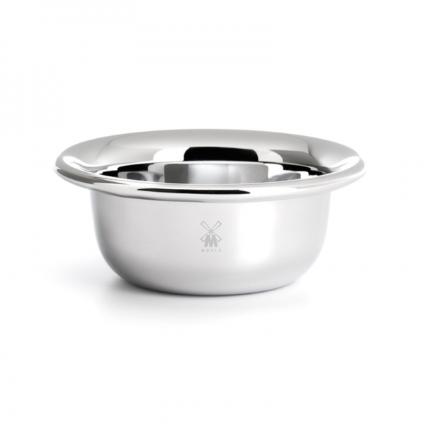 Shaving Bowl, stainless steel, chrome-plated