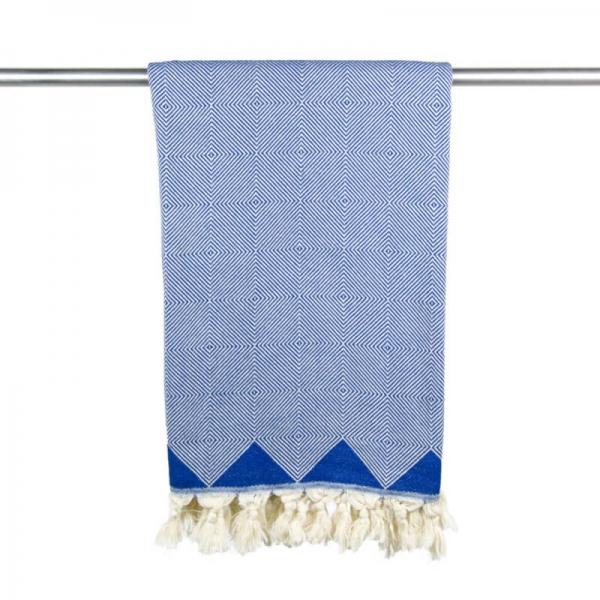 Hamamtuch Kestane klassisch blau