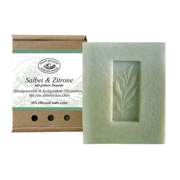 Natural Soap Sage & Lemon with green clay