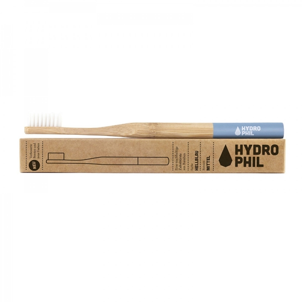 Hydrophil Bambus Zahnbürste mittel, hellblau