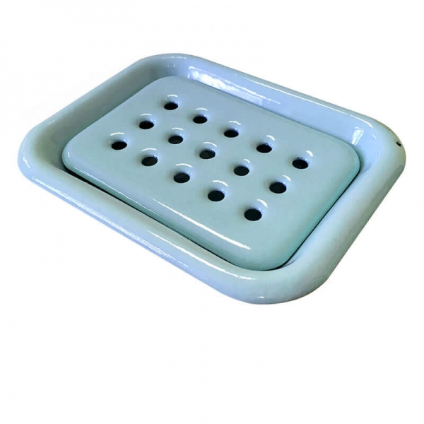 Enamel Soap Dish Light Blue