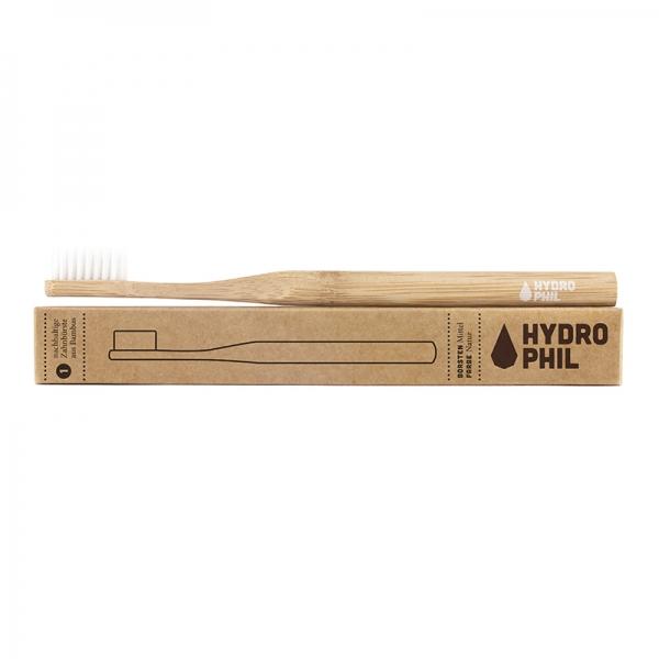 Hydrophil Bamboo Toothbrush, medium, white