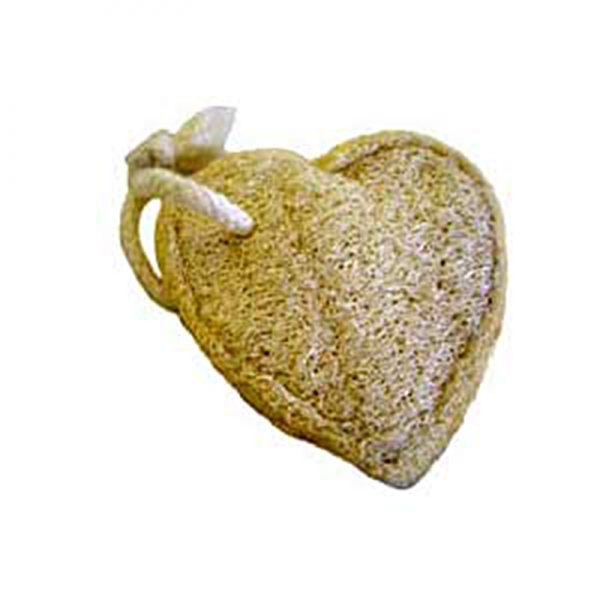 Loofah Heart Pad with rope