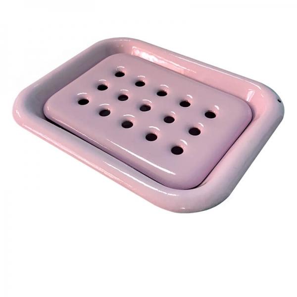 Enamel Soap Dish Rosé